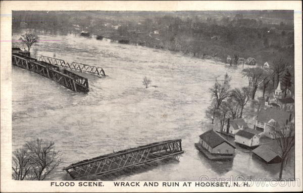 Flood Scene, Wrack and Ruin Postcard