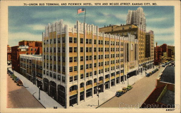 Union Bus Terminal and Pickwick Hotel Kansas City Missouri
