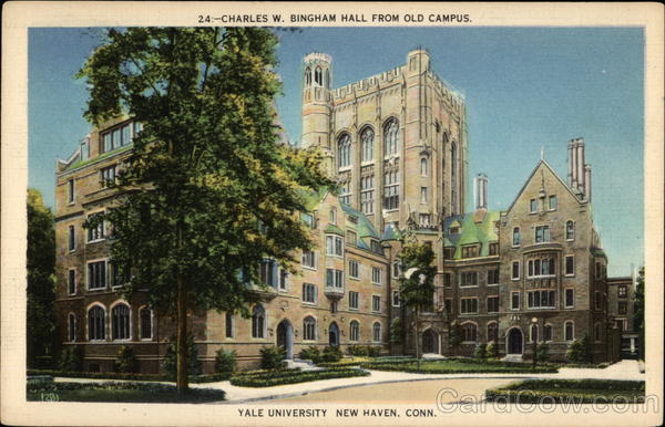 Charles W Bingham Hall From Old Campus Yale University