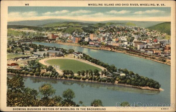 Wheeling Island And Ohio River