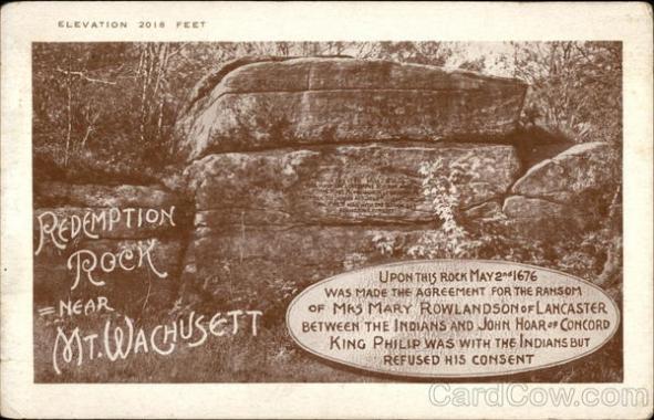 Redemption Rock Old Postcard