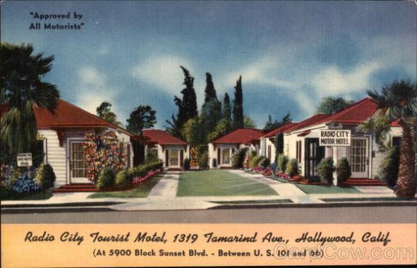 Radio City Tourist Motel Old Postcard