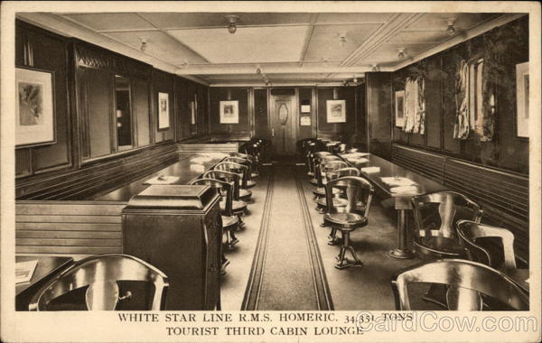 White Star Line RMS Homeric Interiors