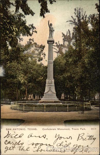 Confederate Monument Travis Park San Antonio Tx