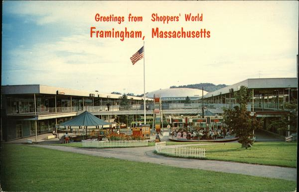 Greetings From Shoppers World Framingham MA