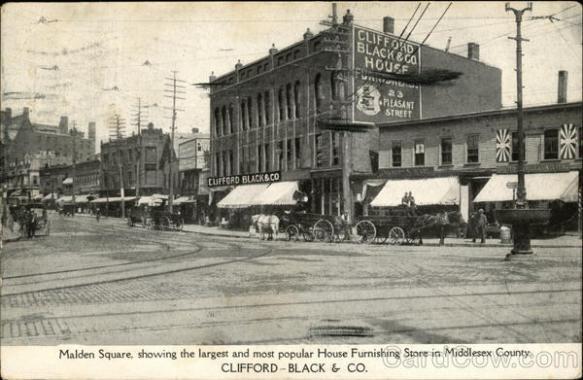 Clifford-Black & Co. Malden Square Old Postcard