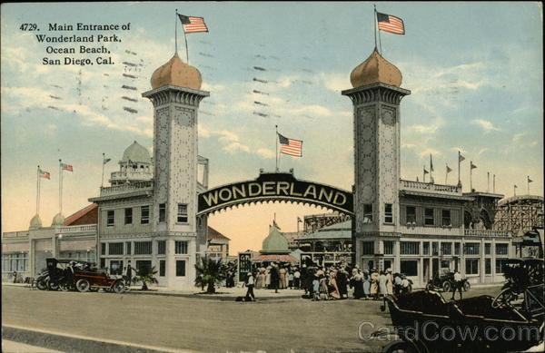 Main Entrance Of Wonderland Park Ocean Beach San Diego CA