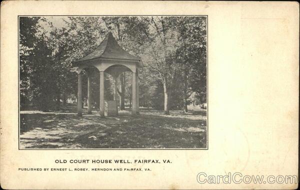 Old Court House Well Fairfax VA Postcard