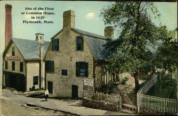 Site Of The First Or Common House In 1620 Plymouth MA