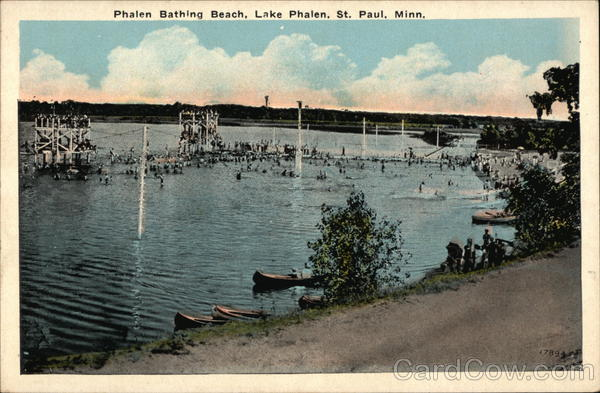Phalen Bathing Beach Lake Phalen St Paul MN Postcard