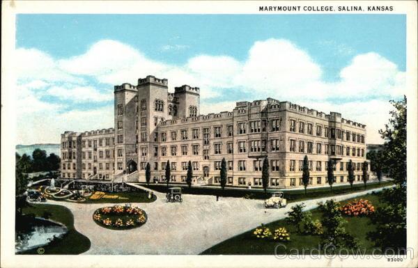Marymount College Salina KS Postcard
