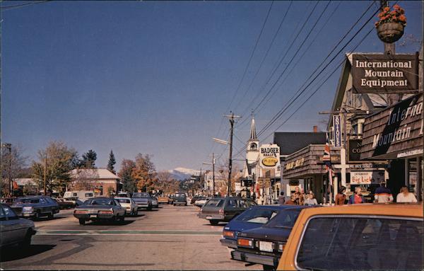Main Street North Conway NH Postcard