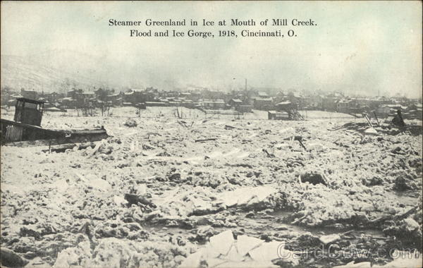 Steamer Greenland In Ice At Mouth Of Mill Creek Cincinnati