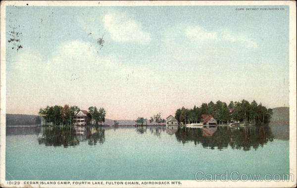 Cedar Island Camp Fourth Lake Fulton Chain Adirondack