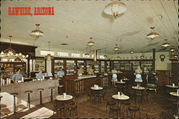 Rawhide General Store Interior Chandler  AZ Postcard