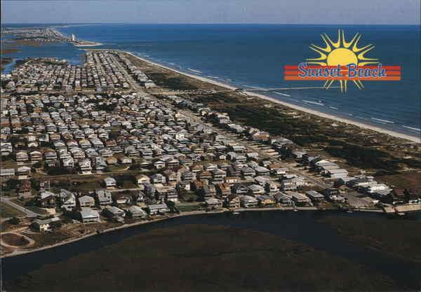 Aerial View Sunset Beach Nc Postcard