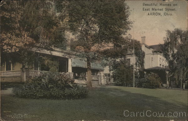 Homes At East Market Street Akron OH Postcard
