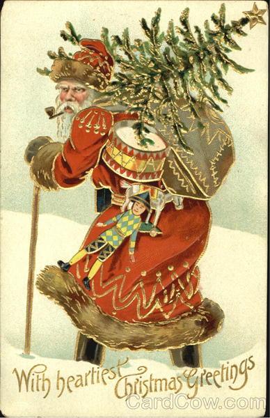 German Santa Smoking Pipe Toys Santa Claus
