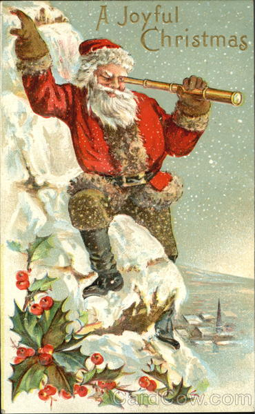 Santa With Telescope Santa Claus