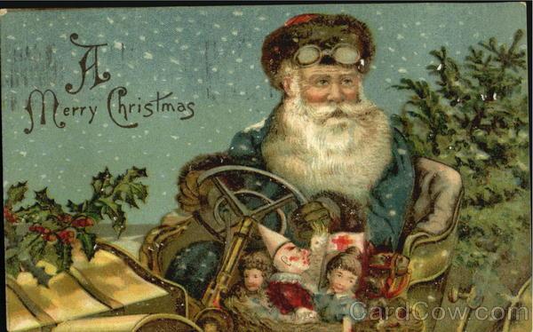 German Santa In Auto Santa Claus