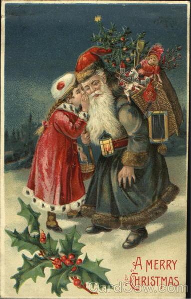 German Santa With Girl Santa Claus