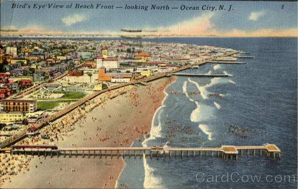 Birds Eye View Of Beach Front Ocean City NJ