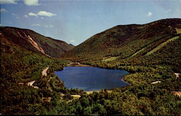 Echo Lake From Artists Bluff Franconia Notch NH