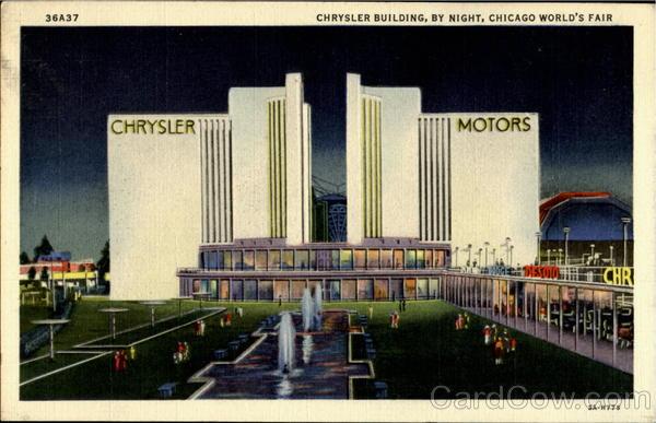 Chrysler Building By Night 1933 Chicago World Fair