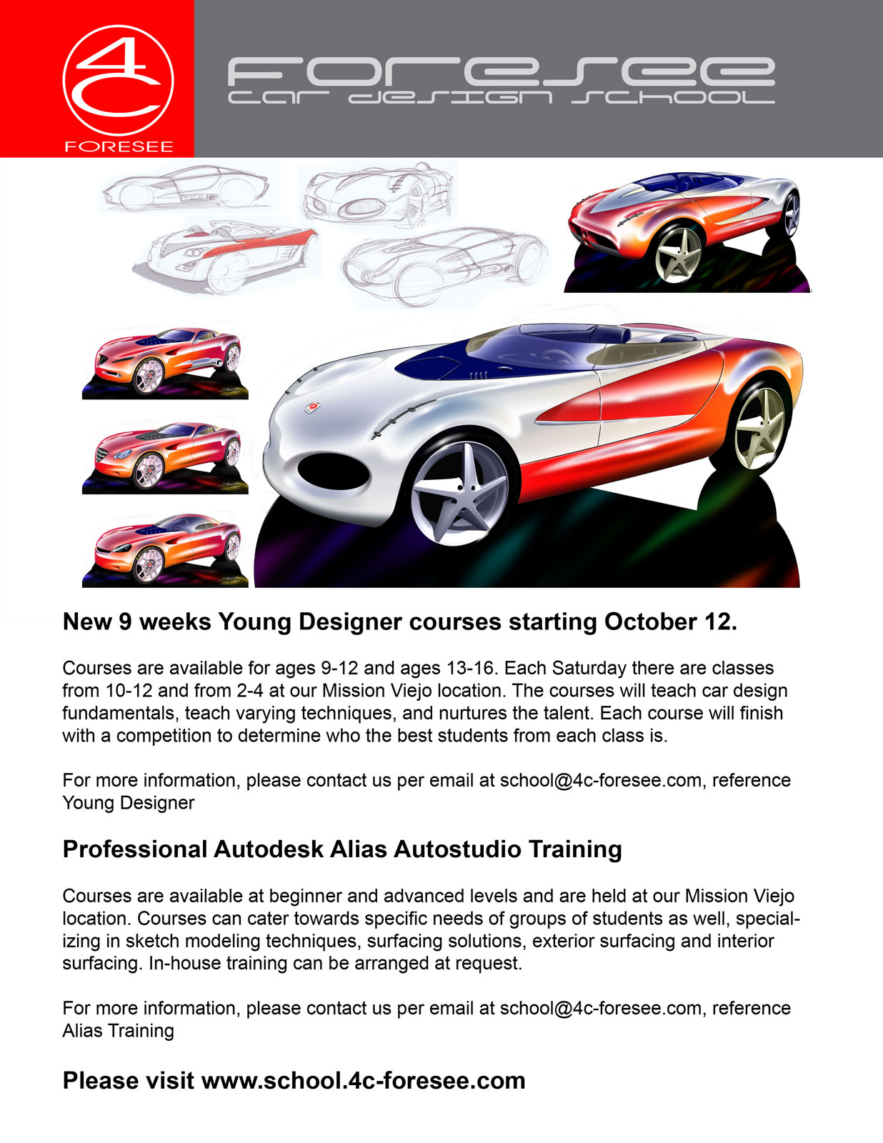 car design classes in mission viejo for kids aged 9 12 and 13 17