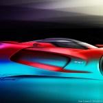 SRT Tomahawk Vision Gran Turismo Concept Side View Sketch