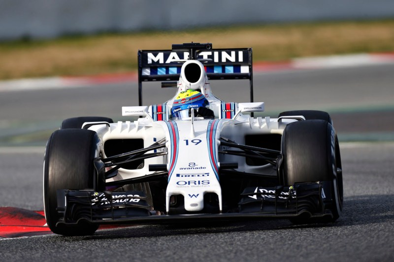 Circuit de Catalunya, Barcelona, Spain Wednesday 24 February 2016. Felipe Massa, Williams FW38 Mercedes. World Copyright: Glenn Dunbar/Williams F1 ref: Digital Image _89P5657