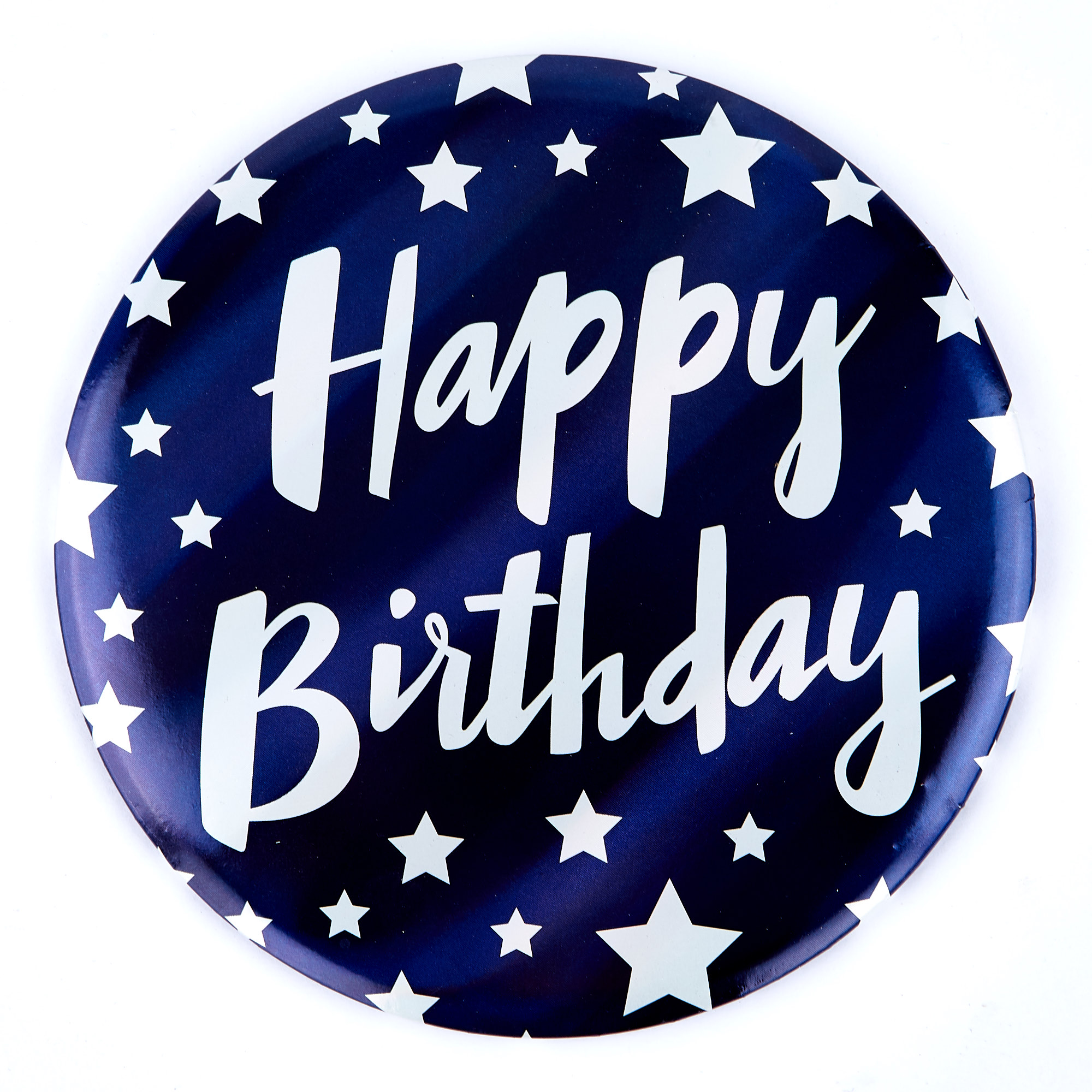 Buy Giant Happy Birthday Badge Blue White Stars For Gbp 0 99 Card Factory Uk