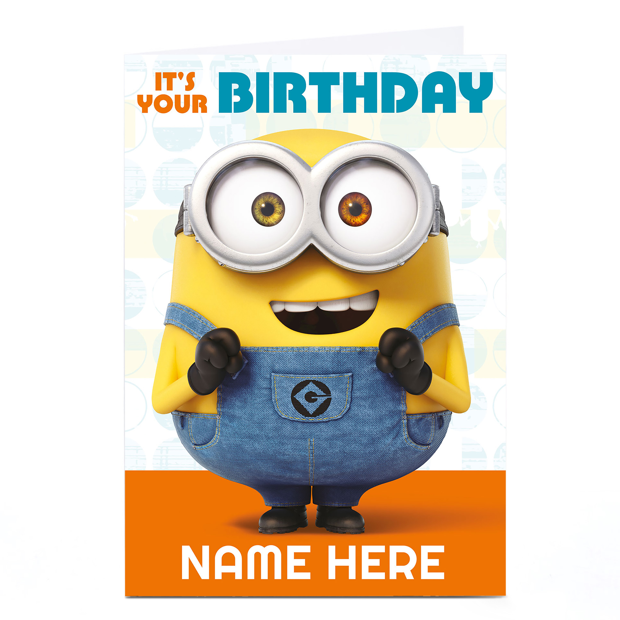 Buy Personalised Despicable Me Card Minion It S Your Birthday For Gbp 1 79 4 99 Card Factory Uk