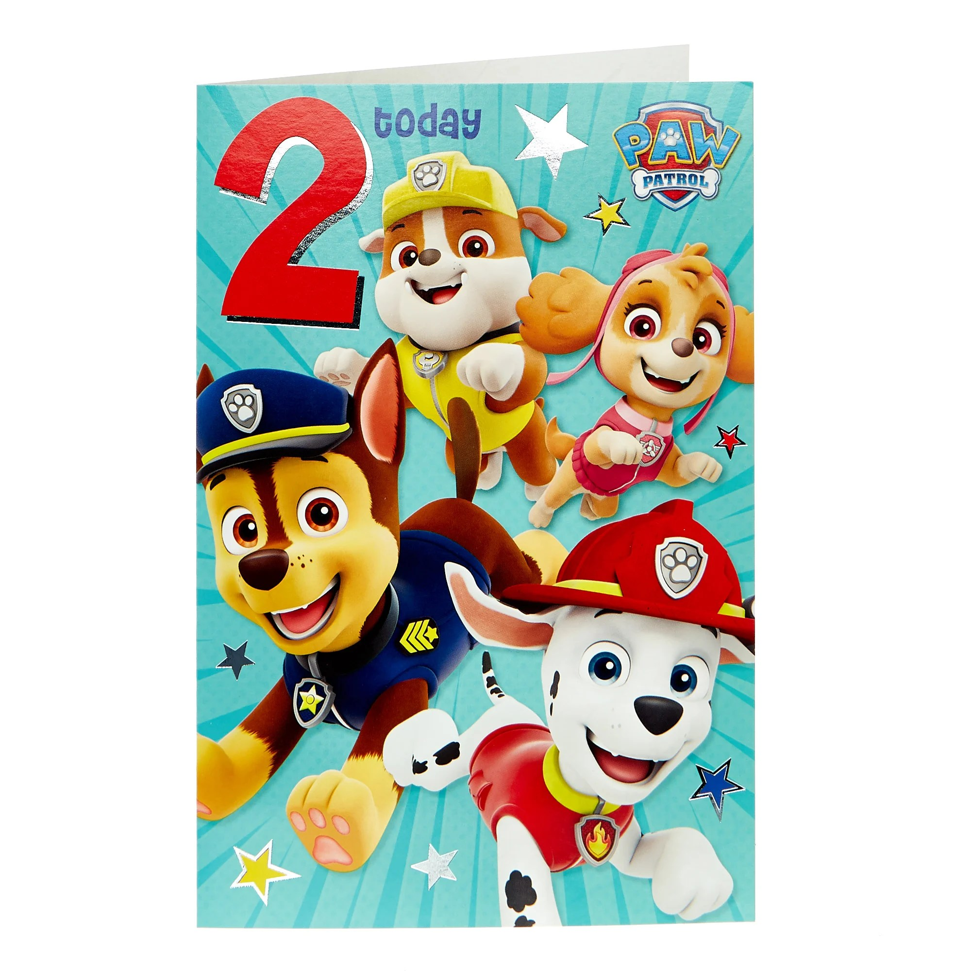 Buy Paw Patrol 2nd Birthday Card For Gbp 0 99 Card Factory Uk