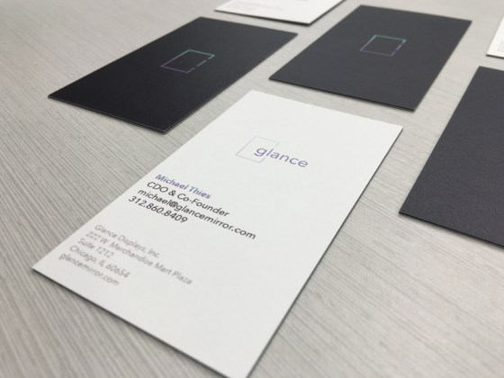 Glance business cards