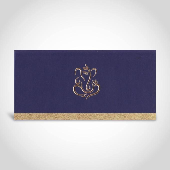 Dark Blue Hindu Wedding Card – CFK13