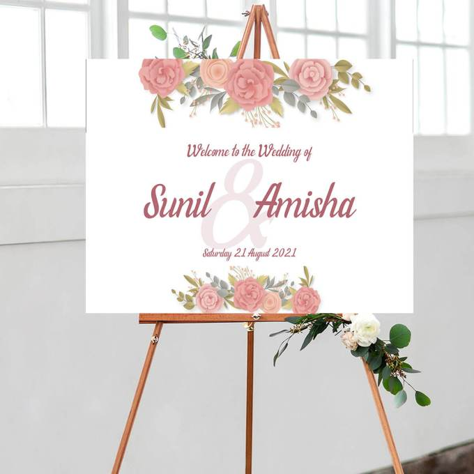 Floral Wedding Welcome Sign – 10