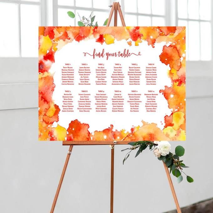 Wedding Seating Chart – Border – 1