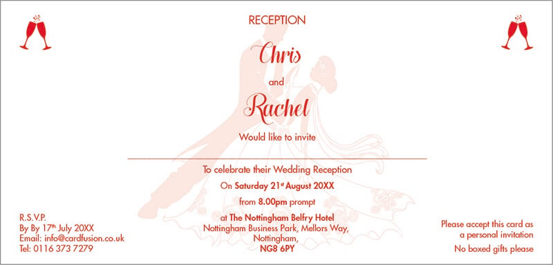 Wedding Invitation in Word CardFusion