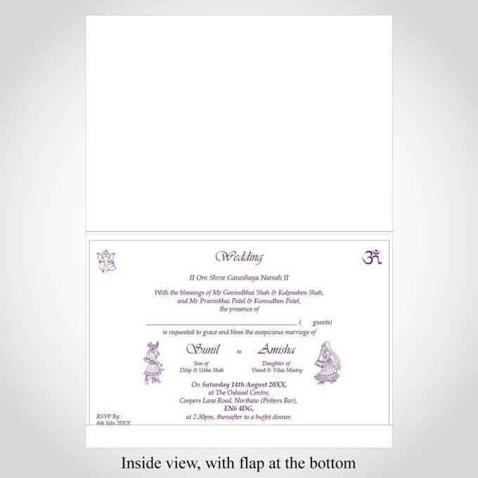 Floral Indian Wedding Invitation – CFK241