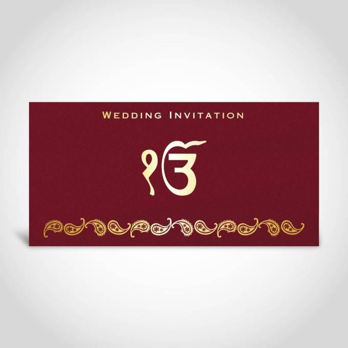 Sikh Wedding Card – CFK203
