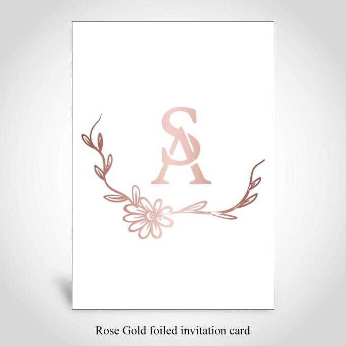 Rose Gold Foiled Invitation Card – CFK284