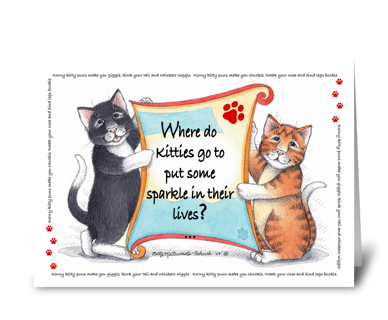 Cute Happy Birthday Card With Fun Cat Royalty Free Vector