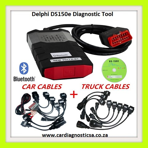 Delphi DS150E Pro Diagnostic Tool Bluetooth + Car & Truck Adapters