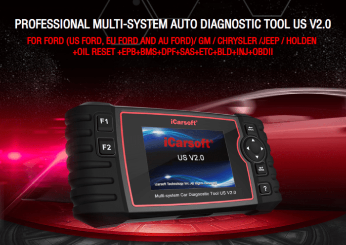 iCARSOFT US DIAGNOSTIC TOOL