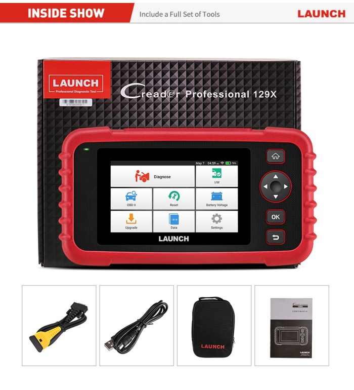 LAUNCH CRP129X OBDII DIAGNOSTIC TOOL PACKAGE