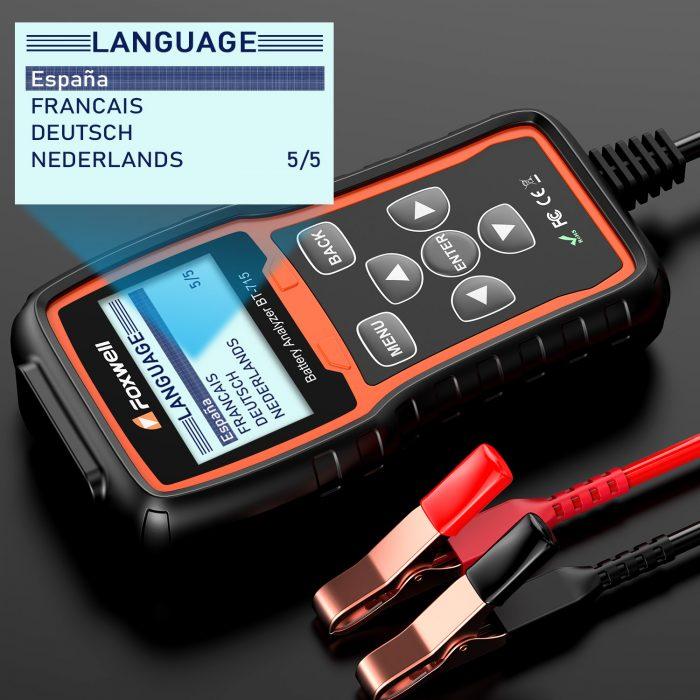 Foxwell BT-715 Battery Analyzer language