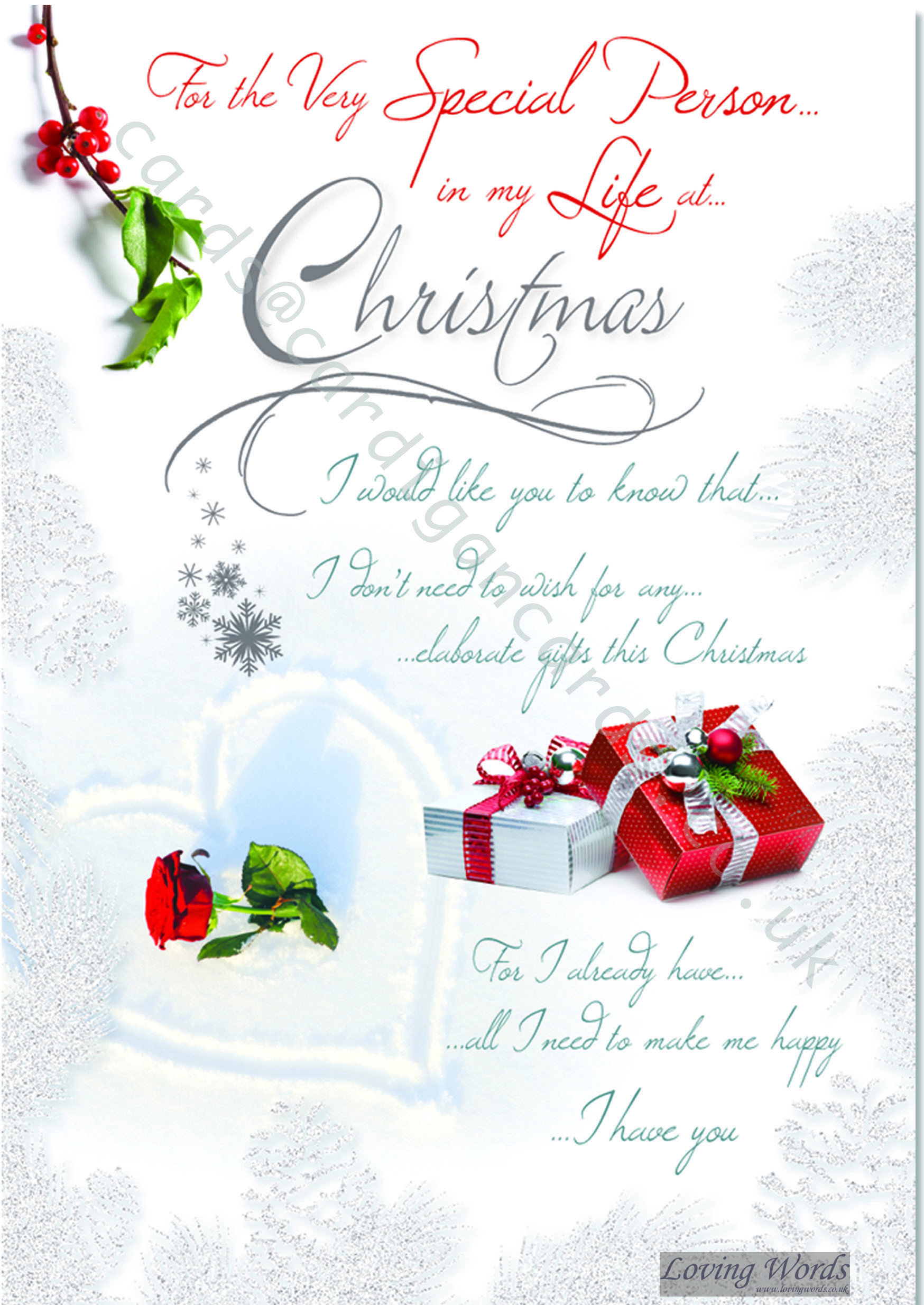 Special Person In My Life At Christmas Greeting Cards By