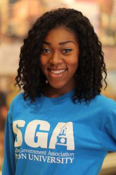 Holly Johnson, junior business administration major, is running for the SGA executive president position. | Submitted photo by Haaken Magnuson