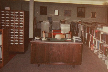 Richard Rogers' desk was in the library in the Penick Academic Complex after the 1975 move from downtown  Jackson. | Photo submitted by Richard Rogers